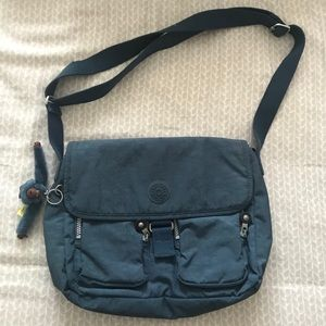 blue kipling messenger crossbody bag